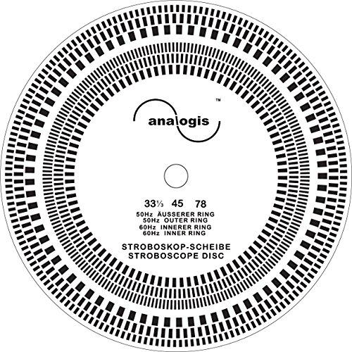 Analogis Perfect Pitch-33-45-78 Stroboskop Scheibe für Plattenspieler