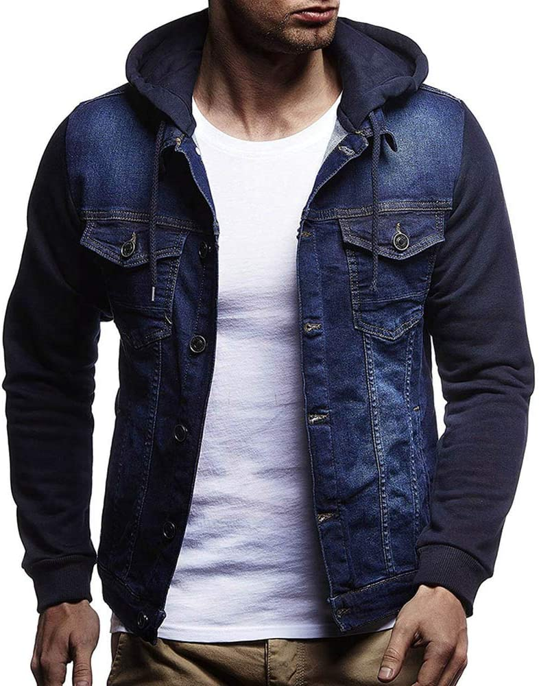 Nice Clothes Jean Jacket Mens' Dist Vintage Hooded Inexpensive Quality inspection Winter Autumn