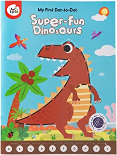 JarMelo Super Fun Dinosaurs My First Dot-to-Dot Drawing Book