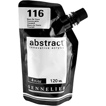 Abstract Acrylic Titanium White 120Ml