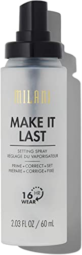 Milani Make It Last 3-in-1 Setting Spray and Primer- Prime + Correct + Set (2.03 Fl. Oz.) Makeup Finishing Spray and ...