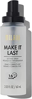 Milani Make It Last 3-in-1 Setting Spray and Primer- Prime + Correct + Set (2.03 Fl. Oz.) Makeup Finishing Spray and Primer - Long Lasting Makeup Primer and Spray