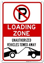 No Parking Symbol Sign, Loading Zone Sign, 10x14 Rust Free Aluminum UV Printed, Easy to Mount Weather Resistant Long Lasting Ink Made in USA by SIGO SIGNS
