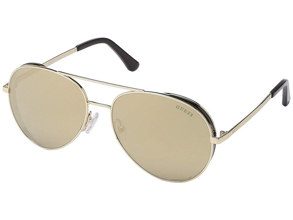 GUESS GU7607 (Gold/Brown Mirror) Fashion Sunglasses