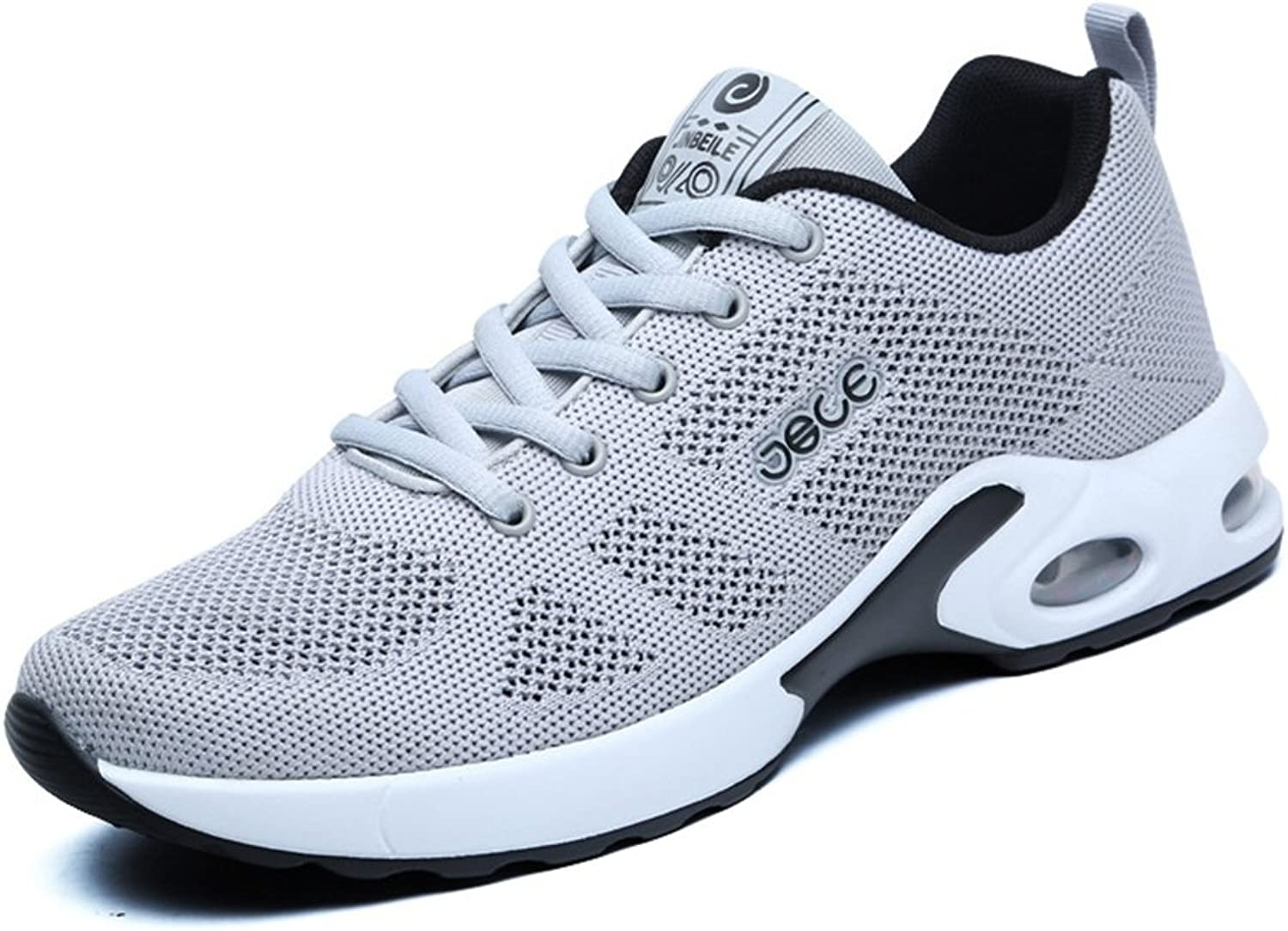 XTIANUK Mens Running shoes, Lightweight Mesh Upper Low Top Sneakers Cool Anti-Shock Lace-up Casual Trainers Size 2-10 UK