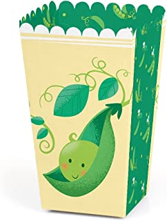 Sweet Pea in a Pod - Baby Shower or First Birthday Party Favor Popcorn Treat Boxes - Set of 12