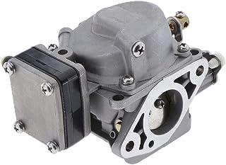 Gazechimp Reparación De Ensamblaje De Carburador De Carburador para Motor De Barco De 2 Tiempos Yamaha 6hp 8hp - 6G1-14301-01 6N0-14301 - Plateado