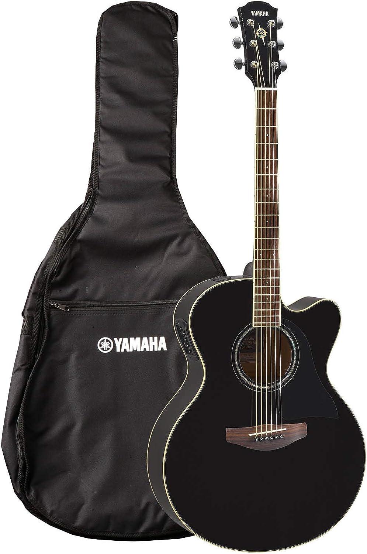 YAMAHA CPX600BL - Guitarra electroacústica, Negro (Black)