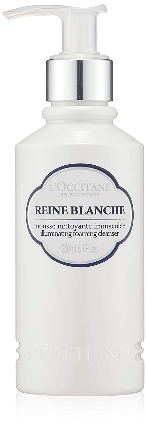 再び疾患若者ロクシタン(L'OCCITANE) レーヌブランシュ ブライトフォームクレンザー 200ml