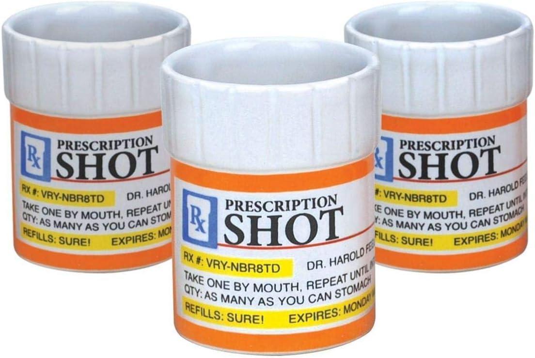 Big Mouth Toys Prescription Pill Bottle Set Shot Mesa Mall Shaped Choice 3 Glass