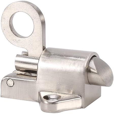 Cerrojo Puerta de seguridad, Aleación de zinc de bloqueo automático del pestillo Tire del resorte de la puerta de rebote perno para Baño Aseo Cabaña Dormitorio