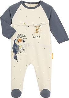 Petit Béguin - Pyjama bébé contenant du coton bio Aloha Havana - Taille - 12 mois