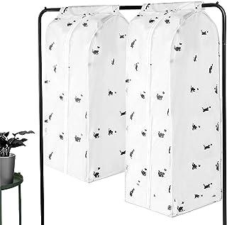 Vêtements Housse de Protection 2 PCS, Zippées Garment Storage Bag Suit Dust Clothes Cover, Housse Costume Sac à Poussière ...