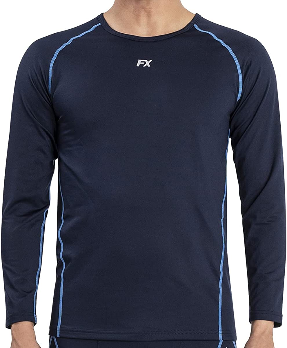 FITEXTREME MAXHEAT Mens Thermal Underwear Tops Long Johns Shirt with Fleece Lined