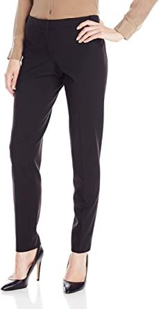 Calvin Klein Women's Slim Fit Lux Highline Pant with Button Closure