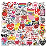 OUTEYE 50Pcs Love Stickers per Buste Scrapbooking Phone Bottiglie d'Acqua Laptop Wedding Car Window Stickers Decal per Adulti Donna Regalo