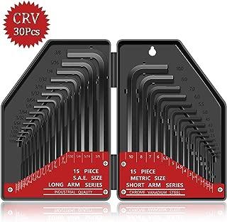 Hex Key Wrench Set, Kingsdun 30 Pcs Hex-L Allen with Hard Case