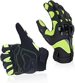 Motorcycle Riding Gloves Breathable Motocross Racing Glove (L, Green)