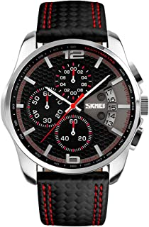 Skmei Casual Watch For Men Analog Leather - 9106