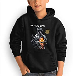 Black Ops 4 Fashionable Adolescent Children Boys and Girls Hoodies