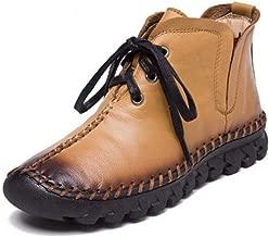 gshd shoes Women's New Winter Boots Handmade Boots Women's lace-up Full Ankle Boots for Women,Single,7