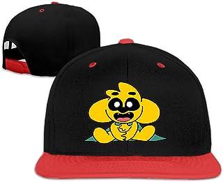 maichengxuan Mikec-Rack Hip Hop Gorras de béisbol para niños Ideal Ajustable Snapback Sombrero Unisex Rojo