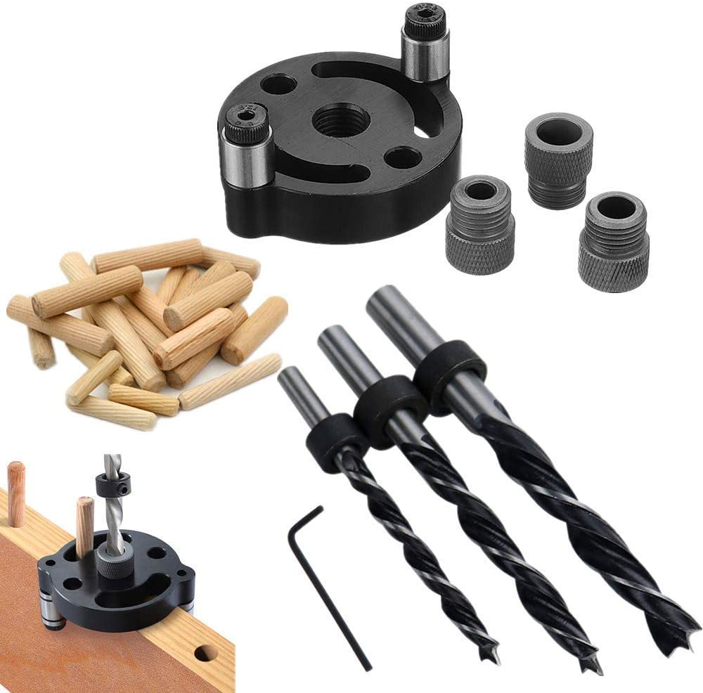 Good Quality Dowel Drill Guide Max 54% OFF Alloy High quality new Bit 3-Hole Aluminum