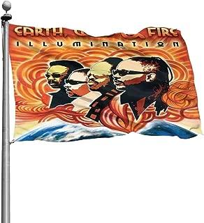 SDKFHIyd The Album Cover Art of Earth Wind&Fire Seasonal Garden Flag Set for Outdoors 4x6 Ft
