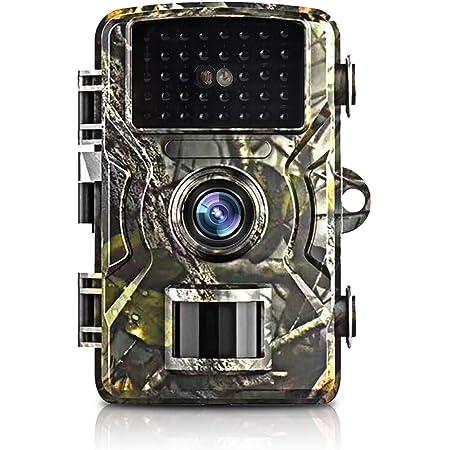 トレイルカメラ ,狩猟カメラ 防犯カメラフル 1080P フルHD 12MP 16MPに設定可能 IP66防水機能隠しカメラ 暗視カメラ 人感センサー 動き検知 防水設計 防犯カメラ トレイルカメラ 広角レンズ 不可視赤外線LEDライト搭載 暗視カメラ 防水カメラ 人感センサー 家庭 屋外 動物撮影 野外監視 車庫 駐車場用 配USBデータ線