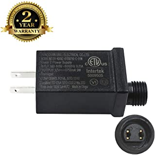 Led Class 2 Power Supply US Plug Adapter Waterproof IP44 Low Voltage LED Driver Transformer Replacement Part for LED Light (12V9W)