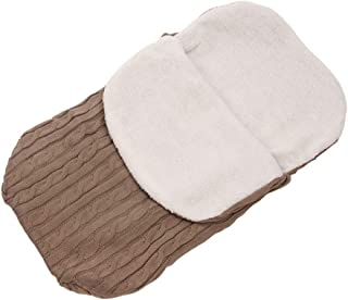 STOBOK Toddler Sleeping Swaddle Bag Fleece Knitting Sleeping Sack Newborn Sleep Bed Bag Warm Sleeping Bag For Infant Newbo...