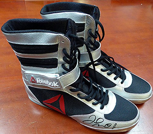 Authentic Autographed Floyd Mayweather Jr. Reebok Silver Boxing Shoes ~ Beckett Authentication