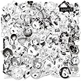 Ahegao Waifu Stickers 102PCS Anime Black White Women Hentai Decals for Adults Computer Hydro Flasks Travel Case Skateboard Sticker