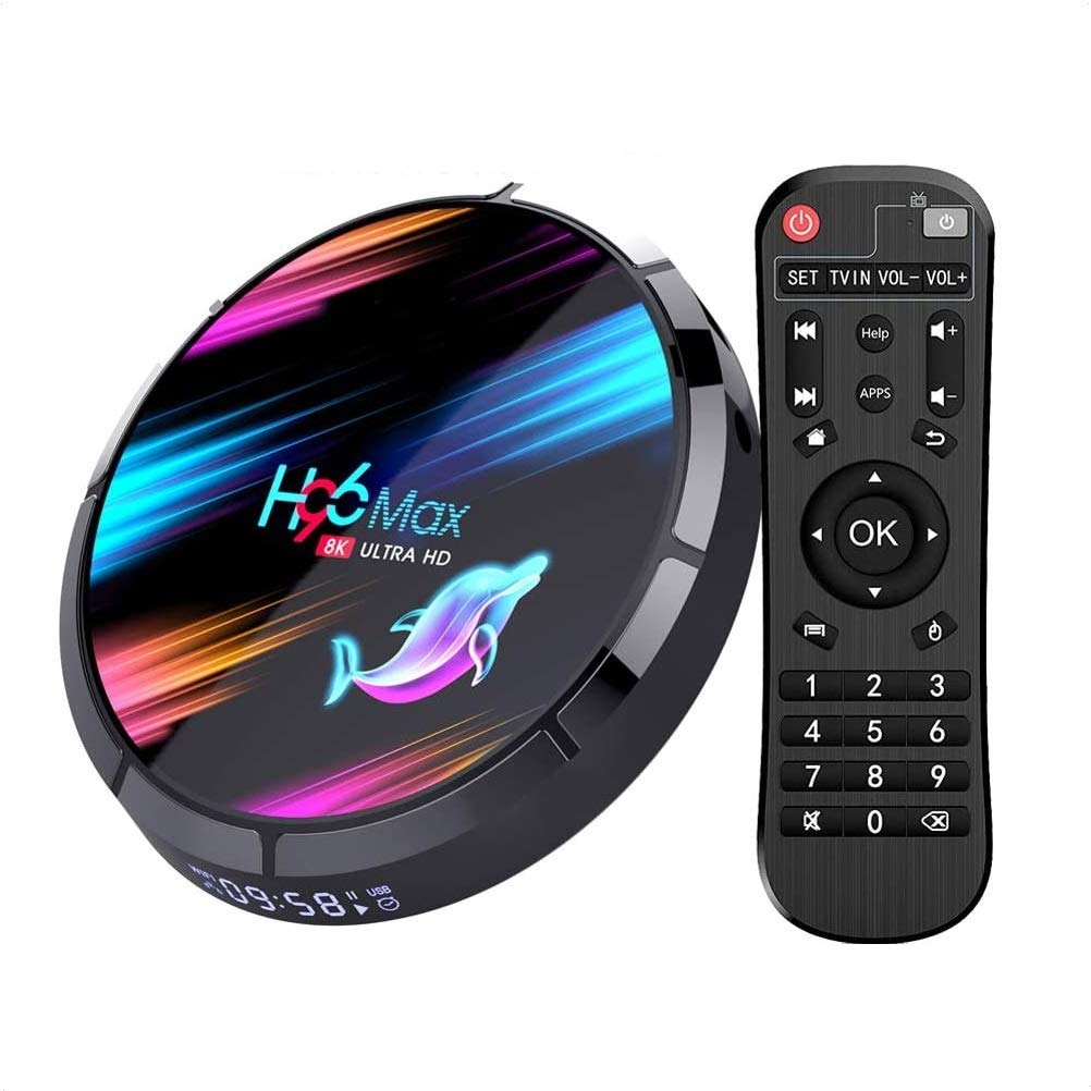 Android TV Box, H96 Max X3 Android 9.0 TV Box 4GB 64GB Amlogic S905X3 Quad Core