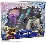 Frozen - Disney Caso de la belleza con dos sabores roll-on 8 ml, cartera, un aplicador y un polvo