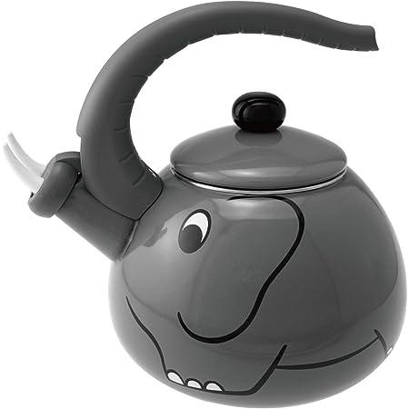Steel Supreme Housewares 71503 Rooster Whistling Kettle Black