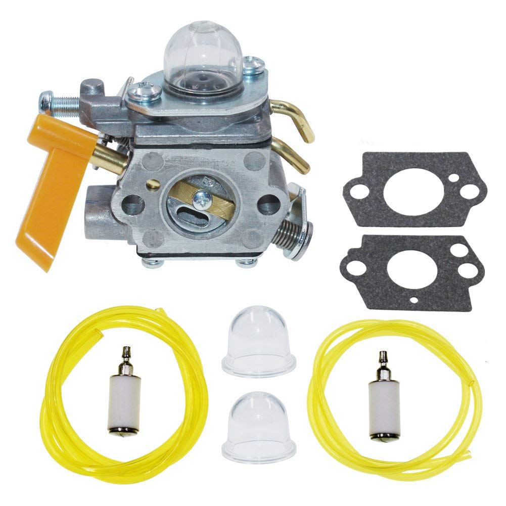 homelite fuel filters amazon com Poulan Pro Weed Eater Fuel Line Replacement 308054043 carburetor with fuel line filter for homelite ryobi ry28000 ry28005 ry28025 ry28020 poulan craftsman 30cc