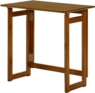 折りたたみ テーブル コンパクト フォールディングテーブル ミラン (6352-1N)幅70×奥行45×高さ69cm アンティーク調 木製 【FBC】 #9881676