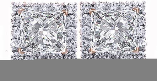 Ohrstecker WeißGold 14 Karat (585) Diamant Prinzessschliff 1,25 Karat (750)