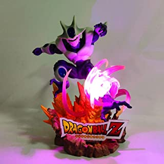 GrandToyZone FIGURE SERIES 25cm (9.8 inch) - Dragon Ball Z Cooler Led Effect PVC Action Figures Toy Anime Dragon Ball Super Heroes Coora with Base DBZ Figurine Toys Doll