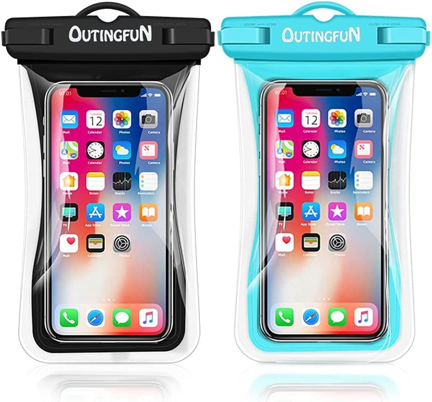 Universal Waterproof Phone Case,2 Pack IPX8 Waterproof Phone Pouch,Floating Waterproof Cell Phone Dry Bag for iPhone 12 Pro Max Samsung Up to 6.9