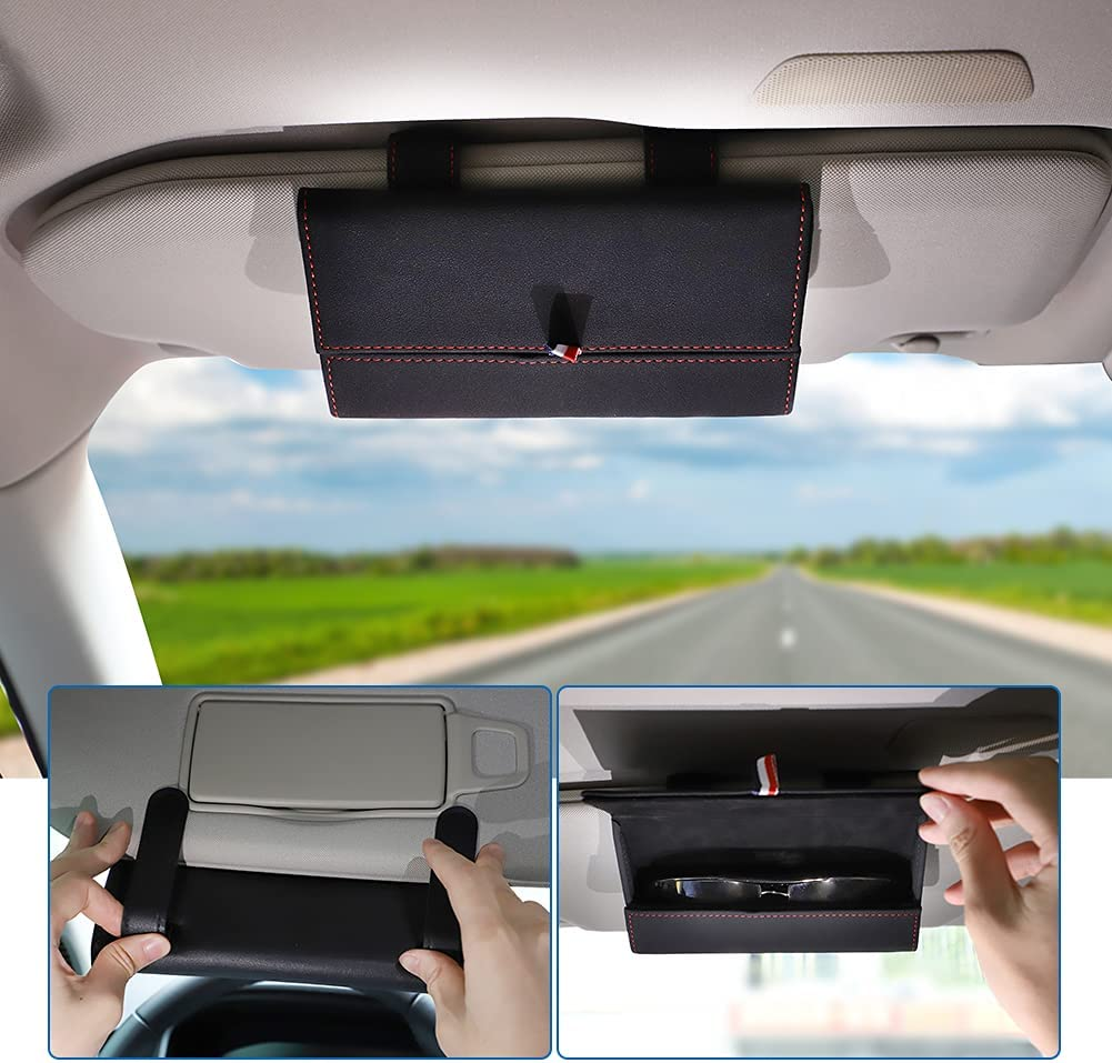 WIKIBB Sunglass Holder At the price for Car Eyeglasses Sun Or Universal free shipping Visor