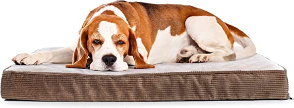 Milliard Quilted Padded Orthopedic Dog Bed, Egg Crate Foam with Plush Pillow Top Washable Cover (41 inches x 27 inches x 4 inches)