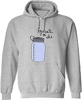 CCANE7 Men's Sudadera con Capucha Personalizada Hydrate or Die Water Divertido gráfico Sudadera con Capucha