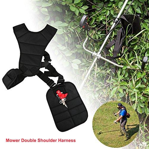 Double Strap Shoulder Harness Black Comfort Trimmers Strimmer Nylon Belt for Brushcutters