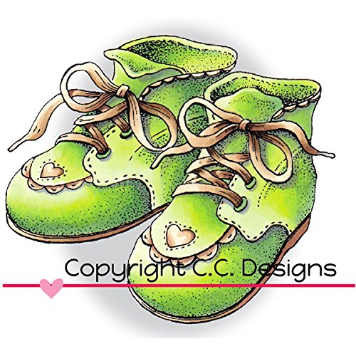 C.C. Designs doveart selbst Stempel 3Zoll x 2.5-inch-Baby Schuhe, andere, Mehrfarbig