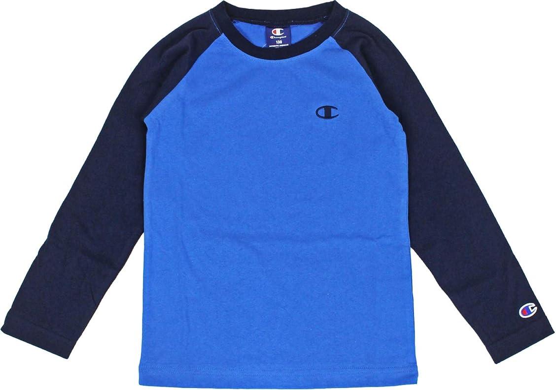 麦芽起きる小石(チャンピオン)Champion キッズ ラグラン 長袖Tシャツ CX7105 CX6981