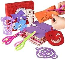 مجموعة قطع ورق للأطفال 200 قطعة من ألعاب ورقية مع زوج من المقصات الآمنة، لعبة تعليمية للأطفال تصلح كفكرة لهدية