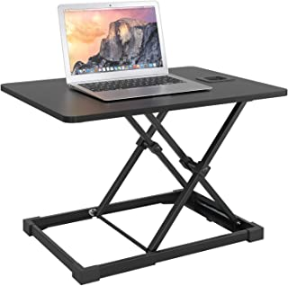 Standing Desk Height Adjustable Sit Stand Desk Converter Screen Riser Computer Laptop Table Workstation Black zhaoyun