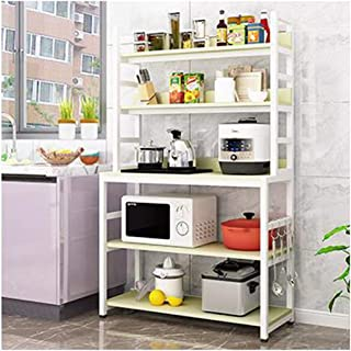 KOKOF Étagère au sol de cuisine four micro-ondes multi-couches pour assaisonnement, four à micro-ondes, armoire de rangeme...